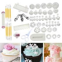 Hot Sale 74pcs Cake Bakeware Fondant Sugarcraft Decorating Kit Cookie Mo... - ₨7,530.13 INR