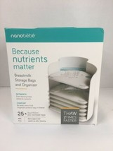 Nanobebe Breastmilk Pump Accessories Storage Bags and Freezer Organizer - $16.34