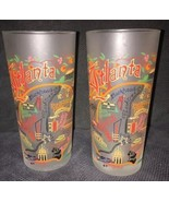Lot 2 CatStudio 2008 Atlanta Georgia Frosted Tumblers Drinking Glasses B... - $24.74