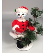 Annalee girl lady Snowman Christmas decoration Felt snowoman christmas tree - $34.99