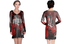 Long Sleeve Night Dress  Godzilla Dead Terror - $23.99+