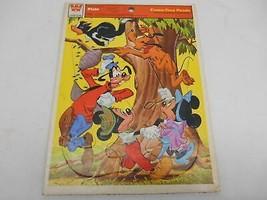 Old Vtg Walt Disney Pluto Whitman Frame Tray Puzzle #4510D Complete - $19.79