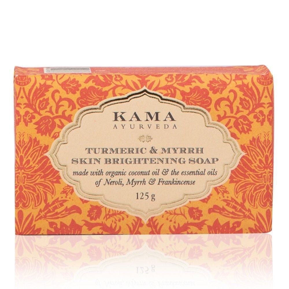 Kama Ayurveda TURMERIC & MYRRH SKIN BRIGHTENING SOAP 125gms Free Shipping