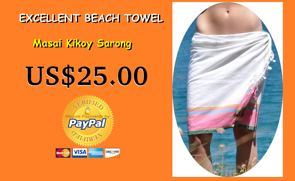 Primary image for White Kikoy Sarong beach towel