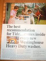 Vintage Tide Laundry Detergent  Print Magazine Advertisement 1965 - $6.99