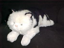 "24"" Avanti Black and White Stuffed Plush Cat Toy By Jockline Italy 1988 - $93.49"