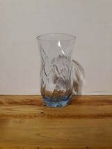 Vintage Anchor Hocking Misty Blue Swirl Optic Iced Tea Tumbler 16 oz - $9.50