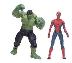 2pcs Marvel SHF Superhero Spiderman Homecoming Hulk PVC Action Figure - $61.99