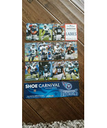 2015 SHOE CARNIVAL TENNESSEE TITANS CARD SET OF 11 MARCUS MARIOTA WALKER... - $16.99