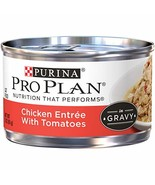 Purina Pro Plan Gravy Wet Cat Food, Chicken Entree With Tomatoes - 24 3 ... - $22.60