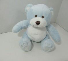Koala Baby blue white plush small teddy bear soft baby toy brown eyes nose - $6.92