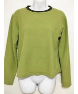 Patagonia Womens S Micro D Luxe Apple Green Fleece Long-Sleeve Pullover ... - $31.85