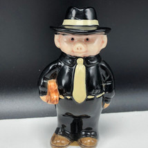 DANBURY MINT PIGGIES FIGURINE porcelain pig hog swine statue Mr gangster... - $27.72