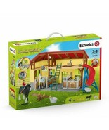 # Stable with Shire horses and accessories 42485  Schleich Horse World i... - $91.90