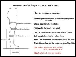 Italian Thigh High Soft Leather Panel Rivets Spike Stiletto Heel Platform Boots image 7