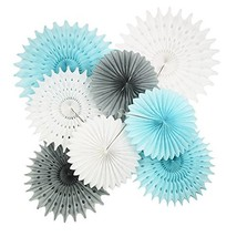 Baby Blue White Grey Baby Boy Baby Shower/Party Paper Decorations First ... - $18.06