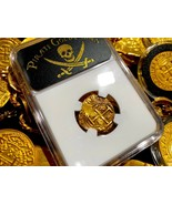 COLOMBIA 1660 DATED 2 ESCUDOS NGC 55 TREASURE 1653-60 PIRATE GOLD COINS ... - $4,950.00