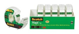 Scotch Brand Magic Tape, 6 Dispensered Rolls, Writeable, Invisible, The ... - €11,93 EUR
