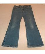 LEVI'S 517 Women Size 11 Jr Slim Fit Boot Cut Worn Faded Blue Denim Jean... - $23.49