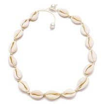Daogtc Natural Shell Necklaces Beads Handmade Hawaii Beach Choker for Gi... - $7.73