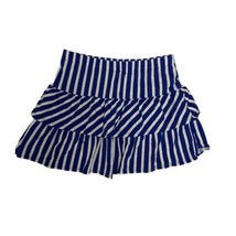 Arizona Blue/ White Stripe Mini Skirt Girl's XL 16 (I-1C) - $12.87