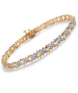 Beautiful genuine fine bracelet 18Kt white and... - $3,500.00