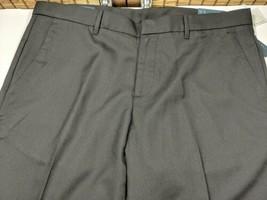 Perry Ellis Slim Fit Flat Front Pants Black Cotton Mens Trousers 36W x 3... - $47.45