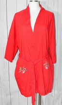 Vintage Daffodil Women's Red Chinese Dragon Kimono Robe Large - $74.24