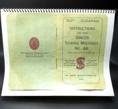 Sewing Machine Manual Singer 66 Printed and Bound Copy Enlarged Size - $16.08 CAD