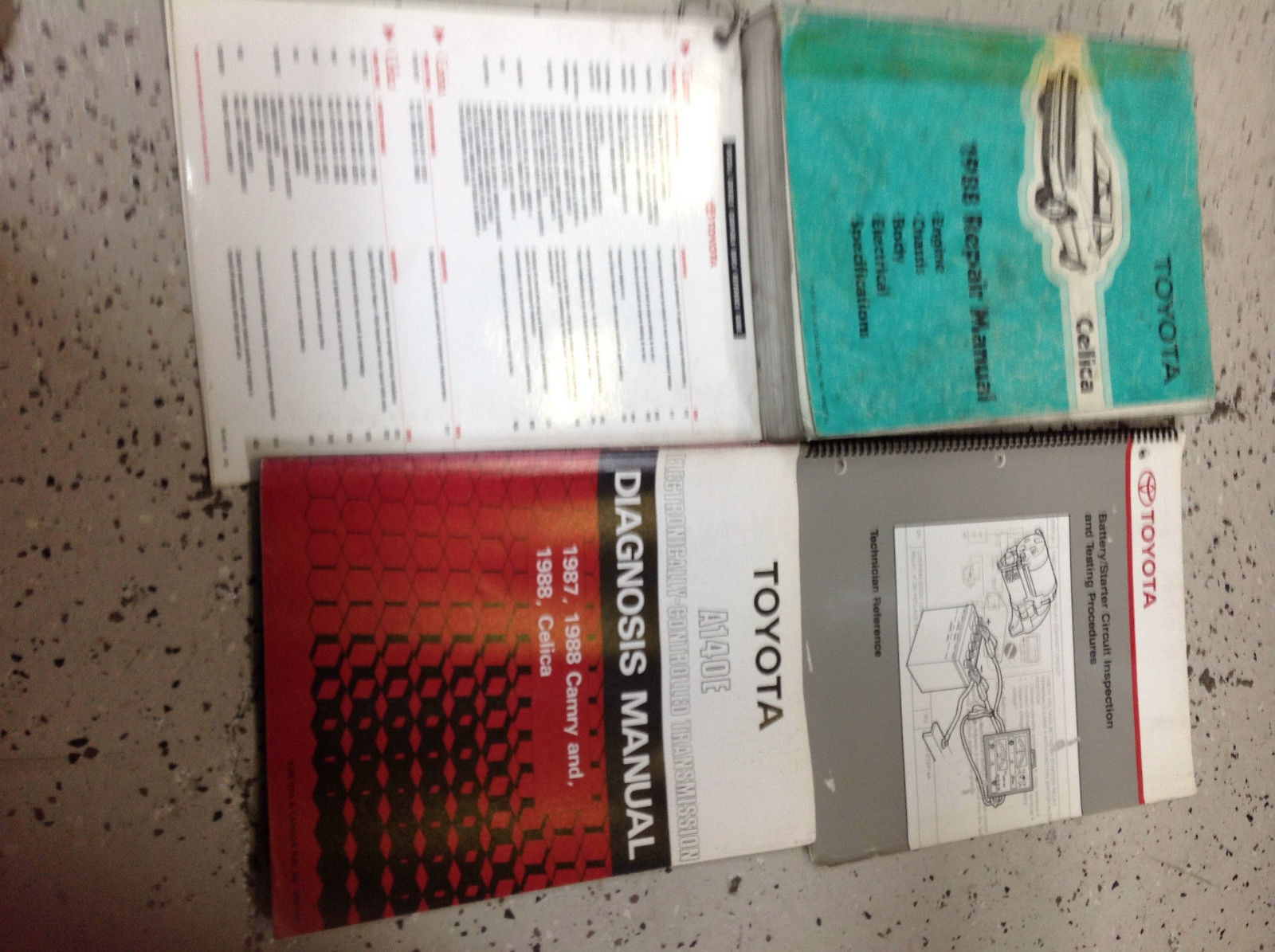 1988 TOYOTA CELICA Service Repair Workshop Shop Manual OEM Set