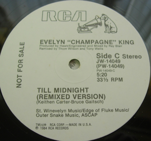 "Evelyn ""Champagne"" King - Till Midnight - RCA Records JW-14049 - PROMO"