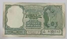 5 Rupees 1964 INDIA BANKNOTE PREFIX-T SIGN- P.C. BHATTACHARYA A INSET 3 ... - $9.99