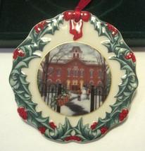 Vintage Longaberger Collector's Club Christmas Ornament 1996 Old Union School - $17.99