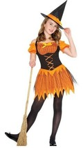 Sassy HALLOWITCH Halloween Witch Costume Orange & Black Franco Little Girls 4-6 - $16.78