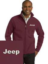 Jeep Maroon Embroidered Port Authority Core Soft Shell Unisex Jacket NEW - $39.99