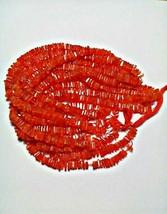Natural Carnelian Amazing Colour Heishi Shape Beads Gemstone 16 Inches S... - $13.85