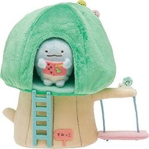 New! Sumikko Gurashi Scene Plush Doll Stuffed Wood House San-X Japan F/S - $51.41