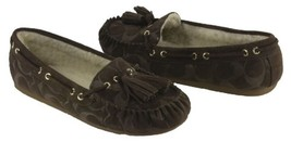 COACH Women's Anita Moccassin Slippers, Chestnut, Brown Suede  6 - $98.10