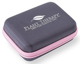 Plant Therapy Small Travel Case, Gray Hard Cover with Pink Zipper, Holds... - $304,93 MXN