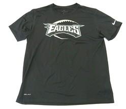 Nike NFL Philadelphia Eagles Black Polyester Graphic T-Shirt Adult Size ... - $32.62