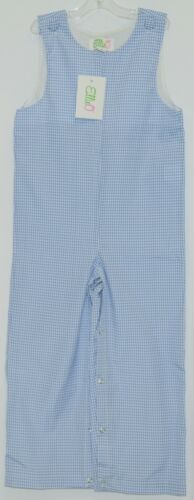 Ellie O Gingham Full Lined Cotton Polyester Blend Longall Size 3 Color Blue