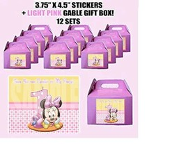 Baby MiNNIE Mouse 1st Party Favor Boxes Thank you Decals Stickers Loots ... - $24.70