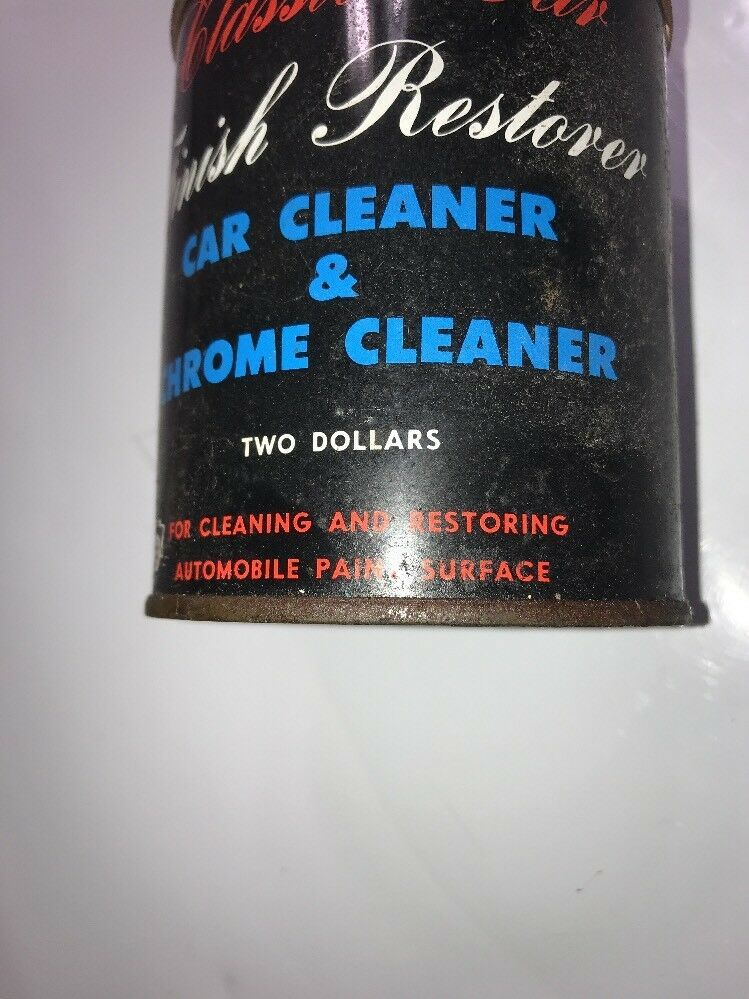 Classic Car Finish Restorer Car Cleaner & Chrome Cleaner Two Dollars Vintage TIN image 3