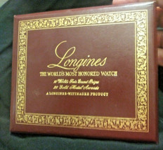 Vtg Longines Wittnauer World's Fair Grand Prize Automatic Watch Presenta... - $55.00