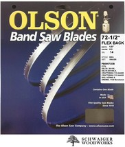"Olson Band Saw Blade 72-1/2"" - 72-5/8"" inch x 1/8"", 14T, Delta 28-195, C... - $18.89"
