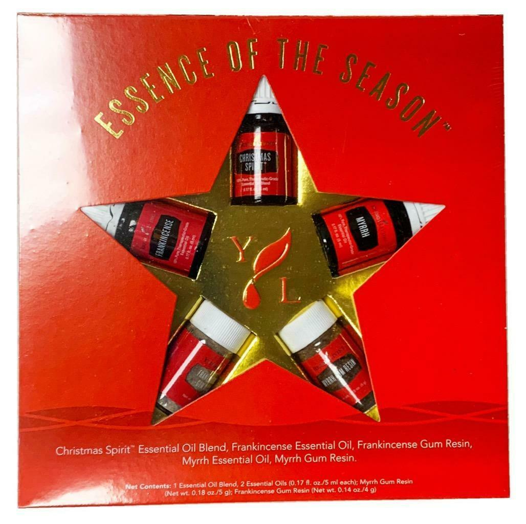 Primary image for NEW Young Living Essential Oil Essence of the Season Christmas 5 Piece Set