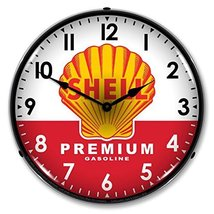 Shell Premium Gasoline Lighted Wall Clock - $129.95