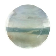 Vintage Ronsethal Germany Cabinet Plate Handpainted Landscape Meadow Hill Scene - $23.35
