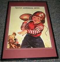 Michigan State Spartan Gridiron News Framed 10x14 Poster Reproduction - $32.36