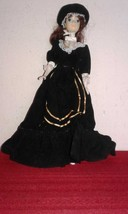 Vtg SHILLMAN Hong Kong CLONE Barbie Doll with Long Black Velvet Dress - $50.00